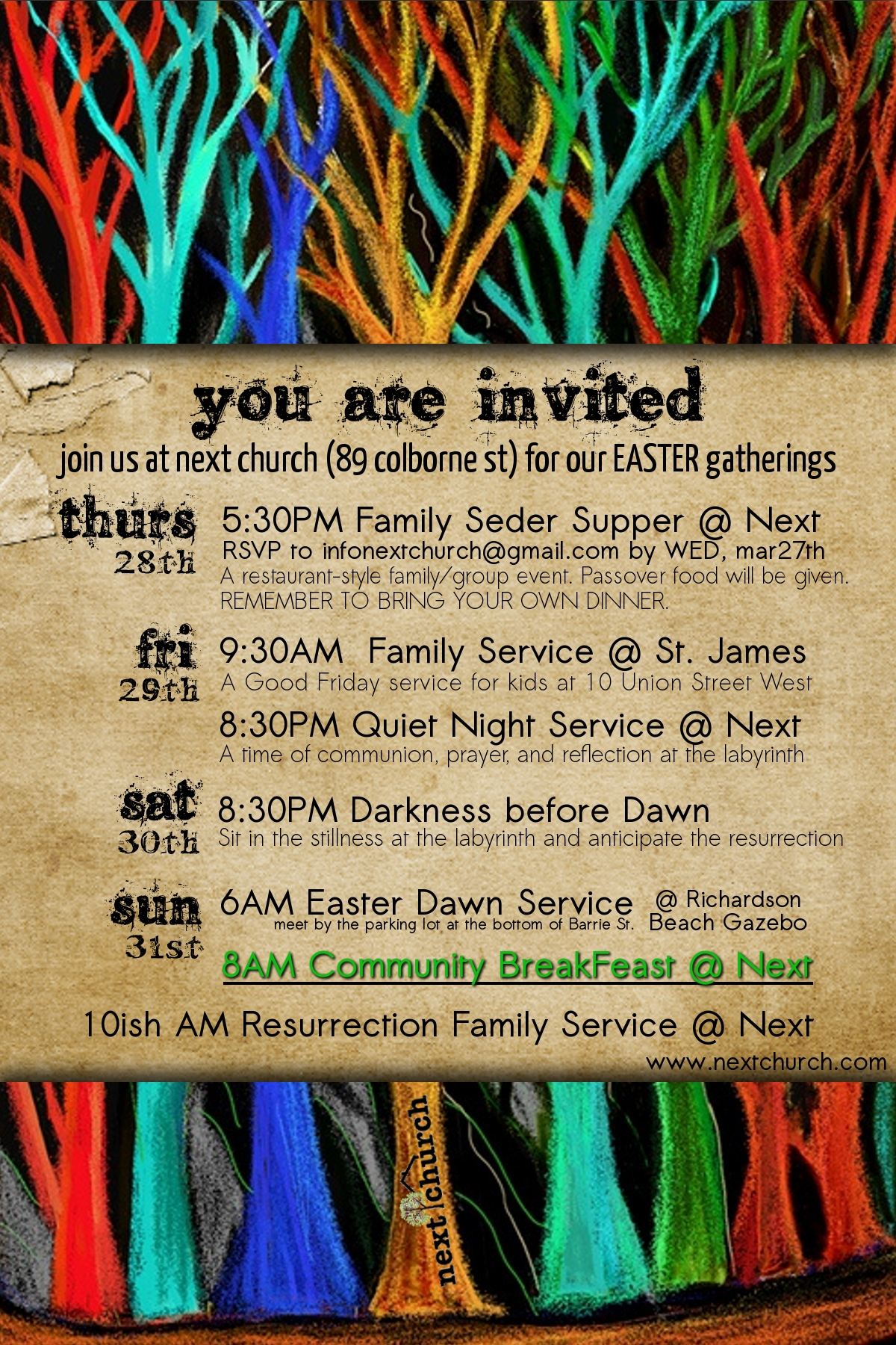 Poster for Easter 2013 Gatherings