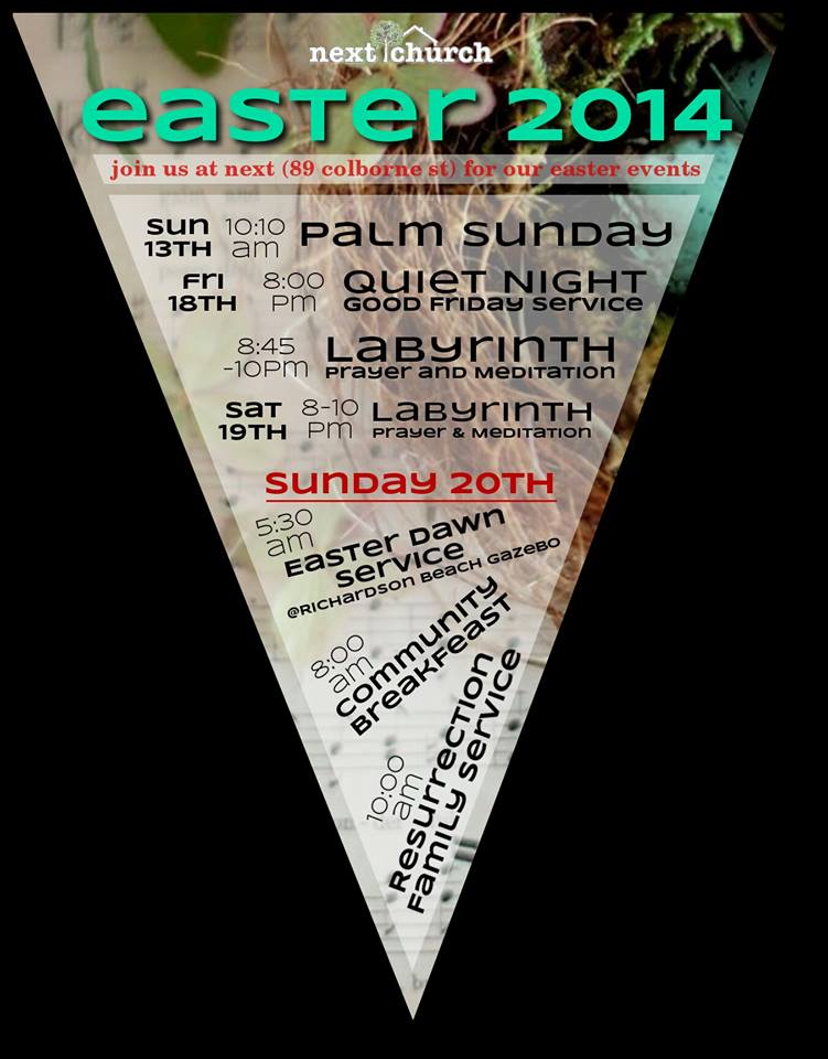 Poster for Easter 2014 Gatherings